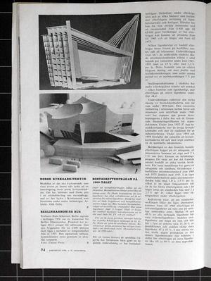 Architecture 1959/12 ÅKESHOV, Ivo Waldhör, VANTONGERLOO, KUNGÄLVSMÄSSAN, Philip Webb, William Morris