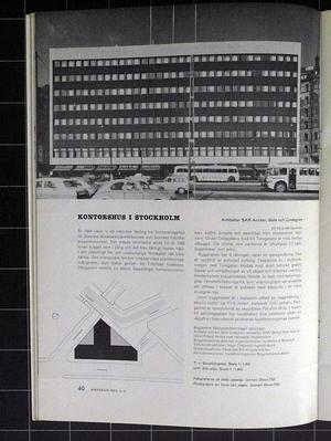 Arkitektur 1959/2 Kockums, Ancker, Gate och Lindegren, Hötorgshallen, Luleå, Erskine