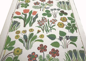 Josef Frank Vårklockor wallpaper no A6181